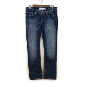 BKE Womens Dark Wash Payton Stretch Bootcut Denim Jeans Size 31L Faded Tailored